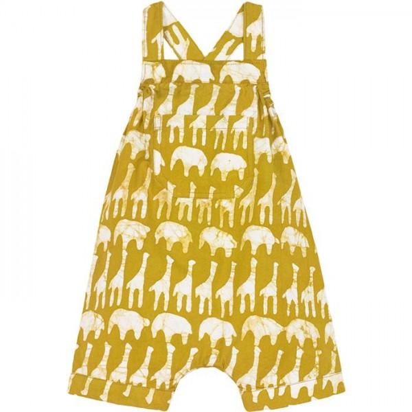 Bio Baby Strampler - Elefant & Giraffe - Gelb