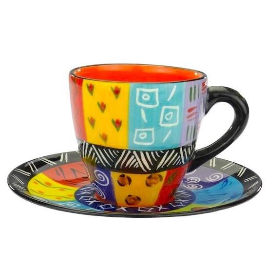 Kapula Keramik Kaffeetasse Abeni mit Untertasse