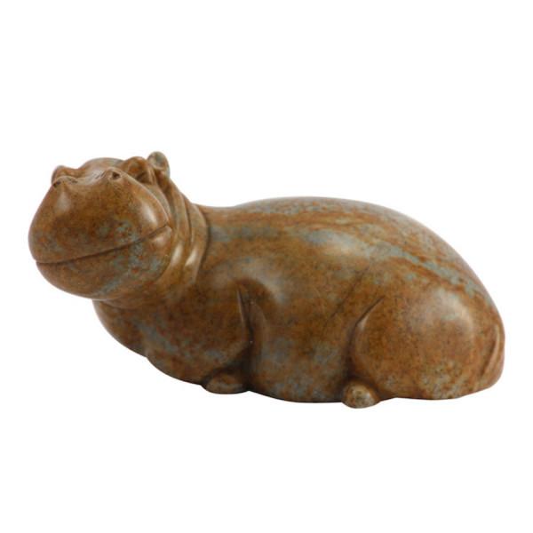 Nilpferd aus Stein - Hippo Groß