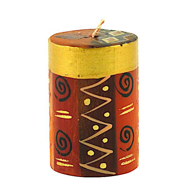 Safari Gold Kerzen - Handbemalt - Klein