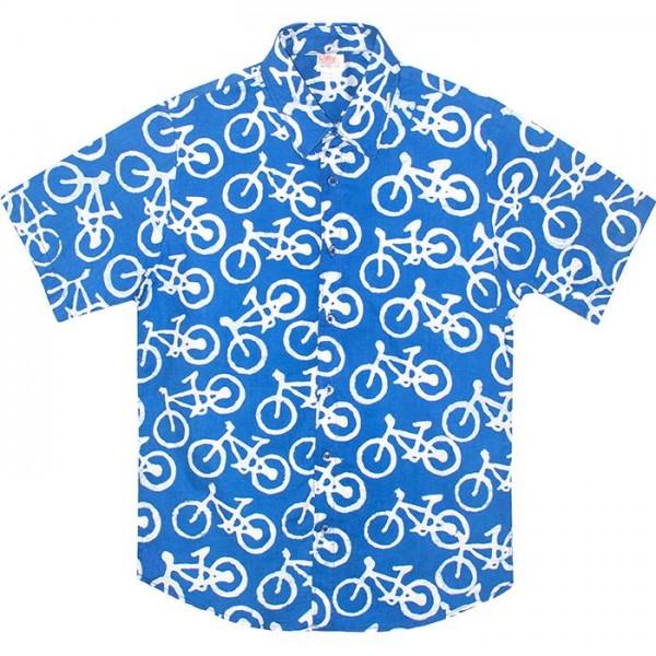 Bio Slim Fit Hemd Bikes Blue