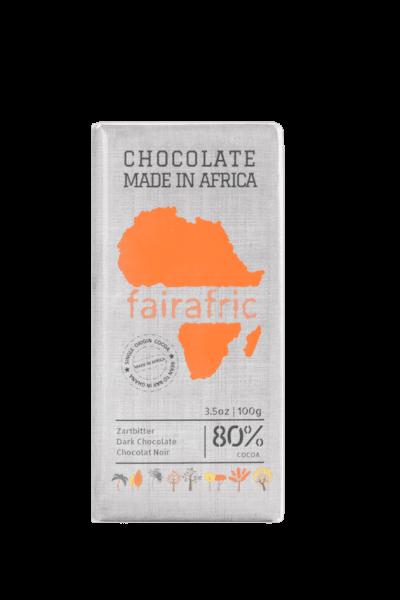 Fairafric Schokolade - Zartbitter 80% - Ghana