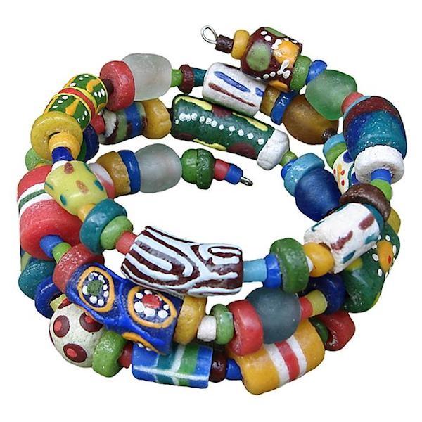 Glasperlen Armband Bunt Afrika Fair Trade Global Mamas